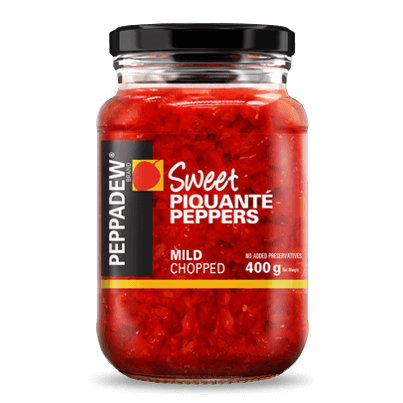 Animated Pack Shot Peppadew Sweet Piquante Peppers Mild Chopped 400g 403x403