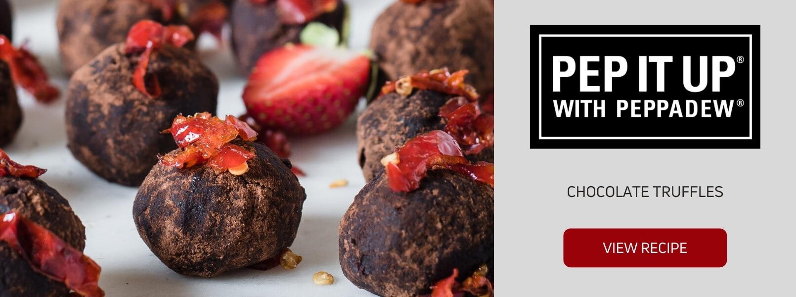 chocolate truffles peppadew